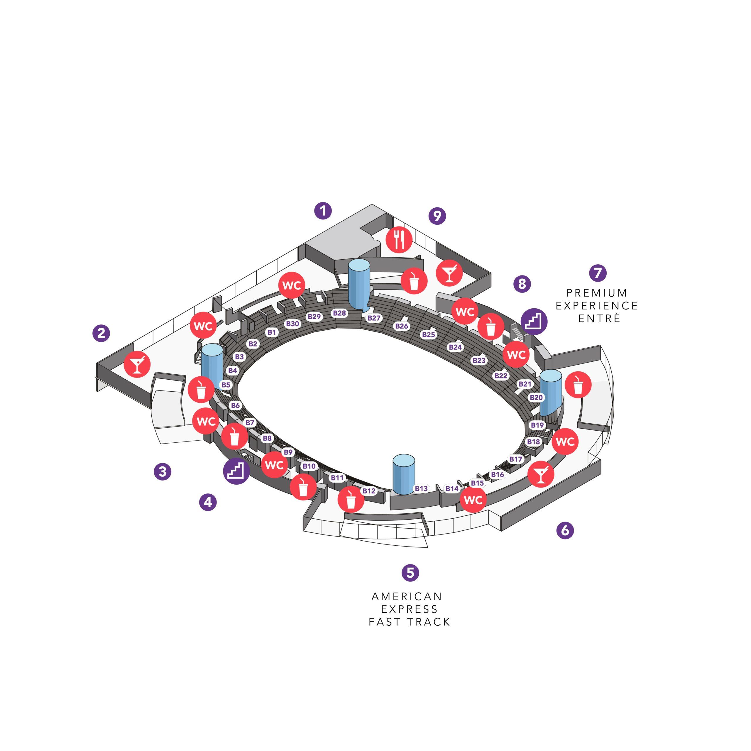 Avicii Arena – områdeskarta plan b